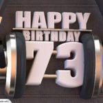 73. Geburtstag Karte Happy Birthday Kopfhörer
