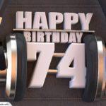74. Geburtstag Karte Happy Birthday Kopfhörer