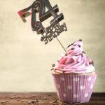 74. Geburtstag Muffin Geburtstagskuchen Happy Birthday