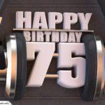 75. Geburtstag Karte Happy Birthday Kopfhörer