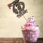 75. Geburtstag Muffin Geburtstagskuchen Happy Birthday