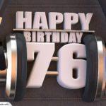 76. Geburtstag Karte Happy Birthday Kopfhörer