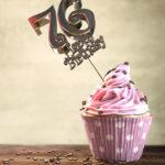 76. Geburtstag Muffin Geburtstagskuchen Happy Birthday