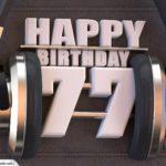 77. Geburtstag Karte Happy Birthday Kopfhörer