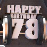 78. Geburtstag Karte Happy Birthday Kopfhörer