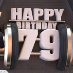 79. Geburtstag Karte Happy Birthday Kopfhörer