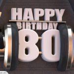 80. Geburtstag Karte Happy Birthday Kopfhörer