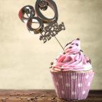 80. Geburtstag Muffin Geburtstagskuchen Happy Birthday