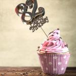 82. Geburtstag Muffin Geburtstagskuchen Happy Birthday