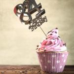 84. Geburtstag Muffin Geburtstagskuchen Happy Birthday