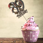 89. Geburtstag Muffin Geburtstagskuchen Happy Birthday