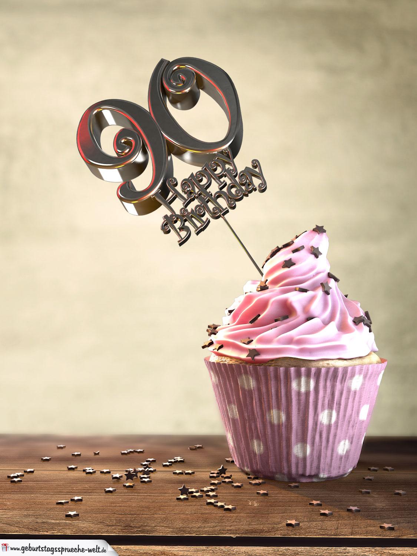 90. geburtstag muffin geburtstagskuchen happy birthday