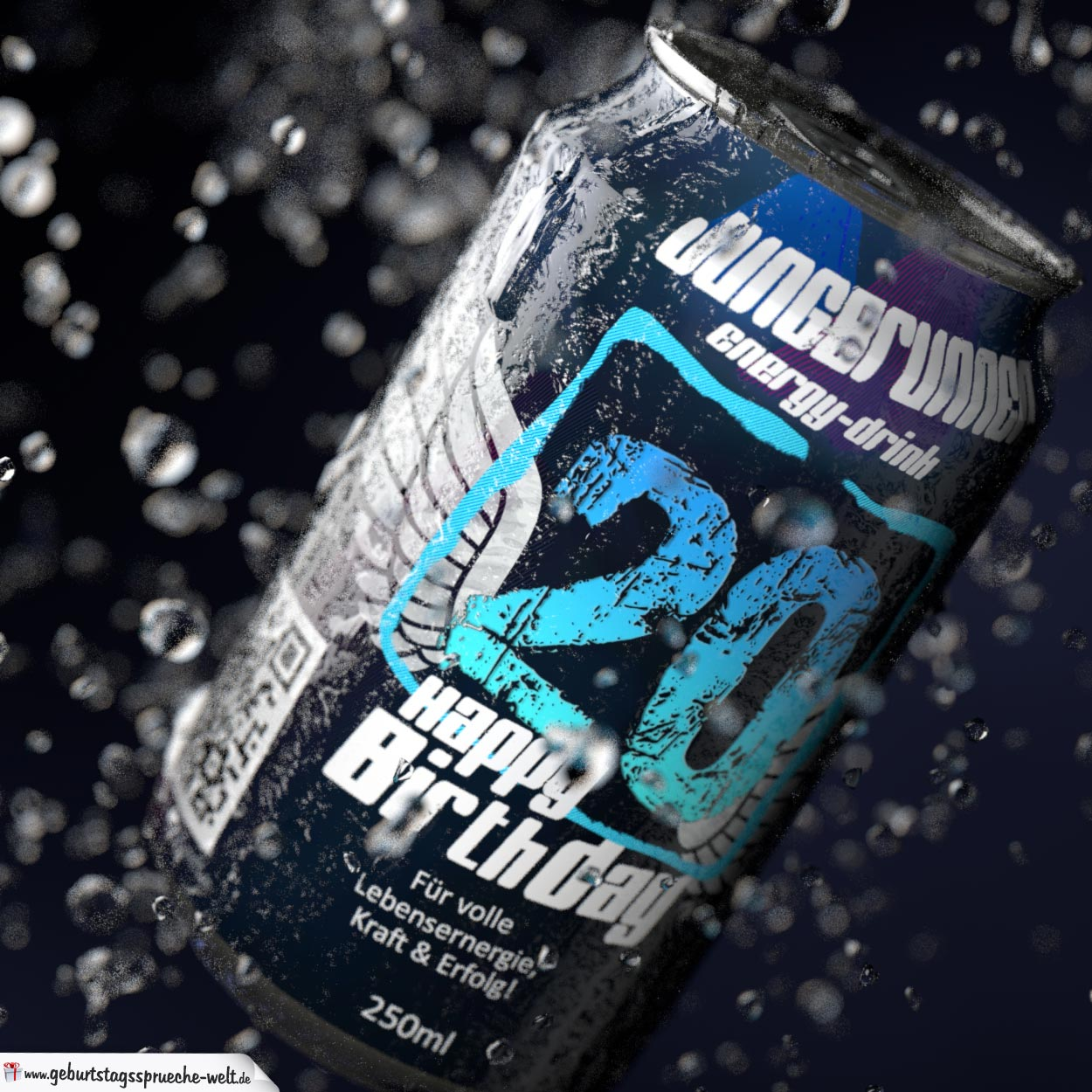 Coole Geburtstagskarte - Energy-Drink Getränkedose 20