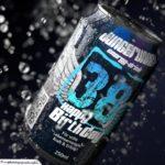 Coole Geburtstagskarte - Energy-Drink Getränkedose 38 Happy Birthday