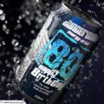 Coole Geburtstagskarte - Energy-Drink Getränkedose 80 Happy Birthday