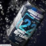 Coole Geburtstagskarte - Energy-Drink Getränkedose 22 Happy Birthday