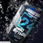 Coole Geburtstagskarte - Energy-Drink Getränkedose 24 Happy Birthday