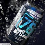 Coole Geburtstagskarte - Energy-Drink Getränkedose 76 Happy Birthday