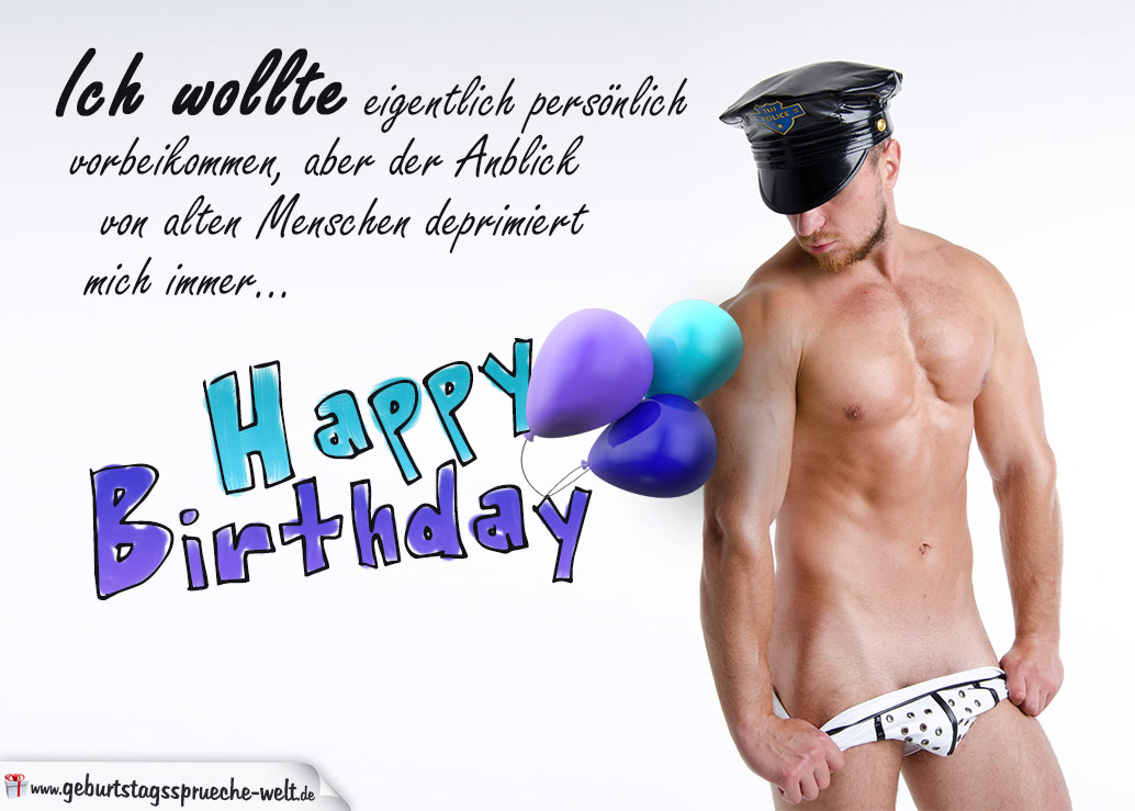 Freche Geburtstagskarte von Männer