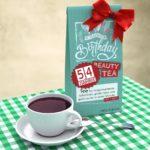 Geburtstagskarte zum 54. Geburtstag kostenlos mit Tee Happy Birthday