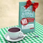 Geburtstagskarte zum 72. Geburtstag kostenlos mit Tee Happy Birthday
