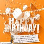 Glückwunschkarte mit Grüßen zum Geburtstag
