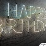 Happy Birthday in Neonschrift 3D