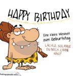 Freche Männer-Geburtstagskarte mit Neandertaler