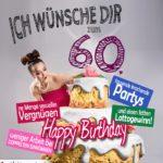 Glückwünsche Geburtstagskarte 60. Geburtstag mit Torte
