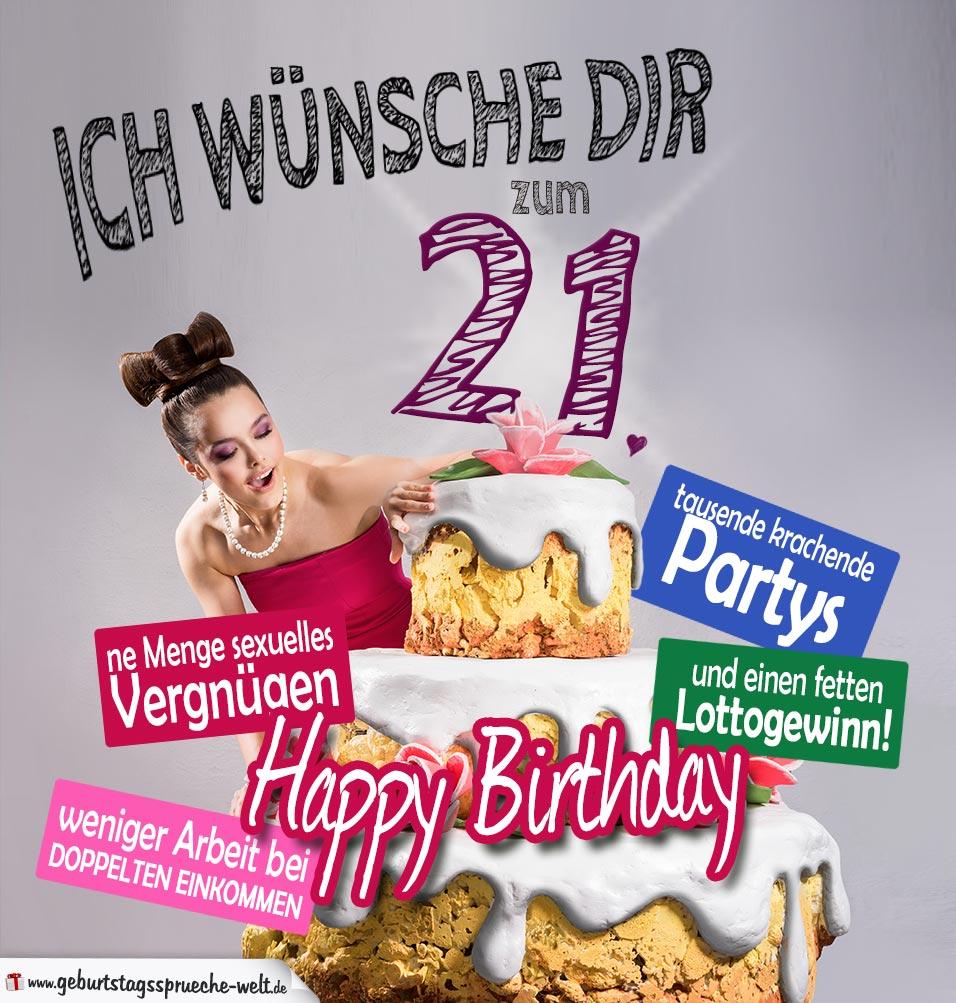 Wünsche Zum 21. Geburtstag