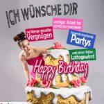 Humorvolle Karte - Große Torte zum Geburtstag