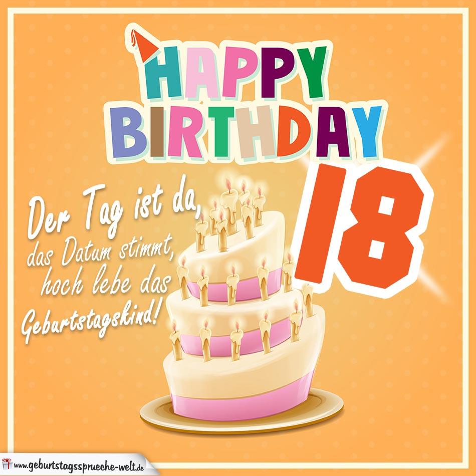 18. geburtstag geburtstagssprüche happy birthday geburtstagskind