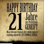 21. Geburtstag Retro Geburtstagskarte