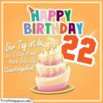 22. Geburtstag Geburtstagssprüche Happy Birthday Geburtstagskind