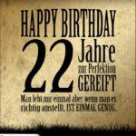 22. Geburtstag Retro Geburtstagskarte