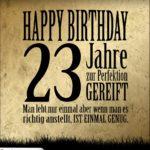 23. Geburtstag Retro Geburtstagskarte