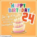 24. Geburtstag Geburtstagssprüche Happy Birthday Geburtstagskind