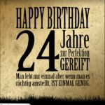 24. Geburtstag Retro Geburtstagskarte