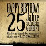 25. Geburtstag Retro Geburtstagskarte