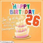 26. Geburtstag Geburtstagssprüche Happy Birthday Geburtstagskind