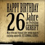 26. Geburtstag Retro Geburtstagskarte