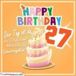 27. Geburtstag Geburtstagssprüche Happy Birthday Geburtstagskind