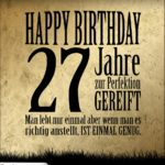 27. Geburtstag Retro Geburtstagskarte
