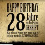 28. Geburtstag Retro Geburtstagskarte