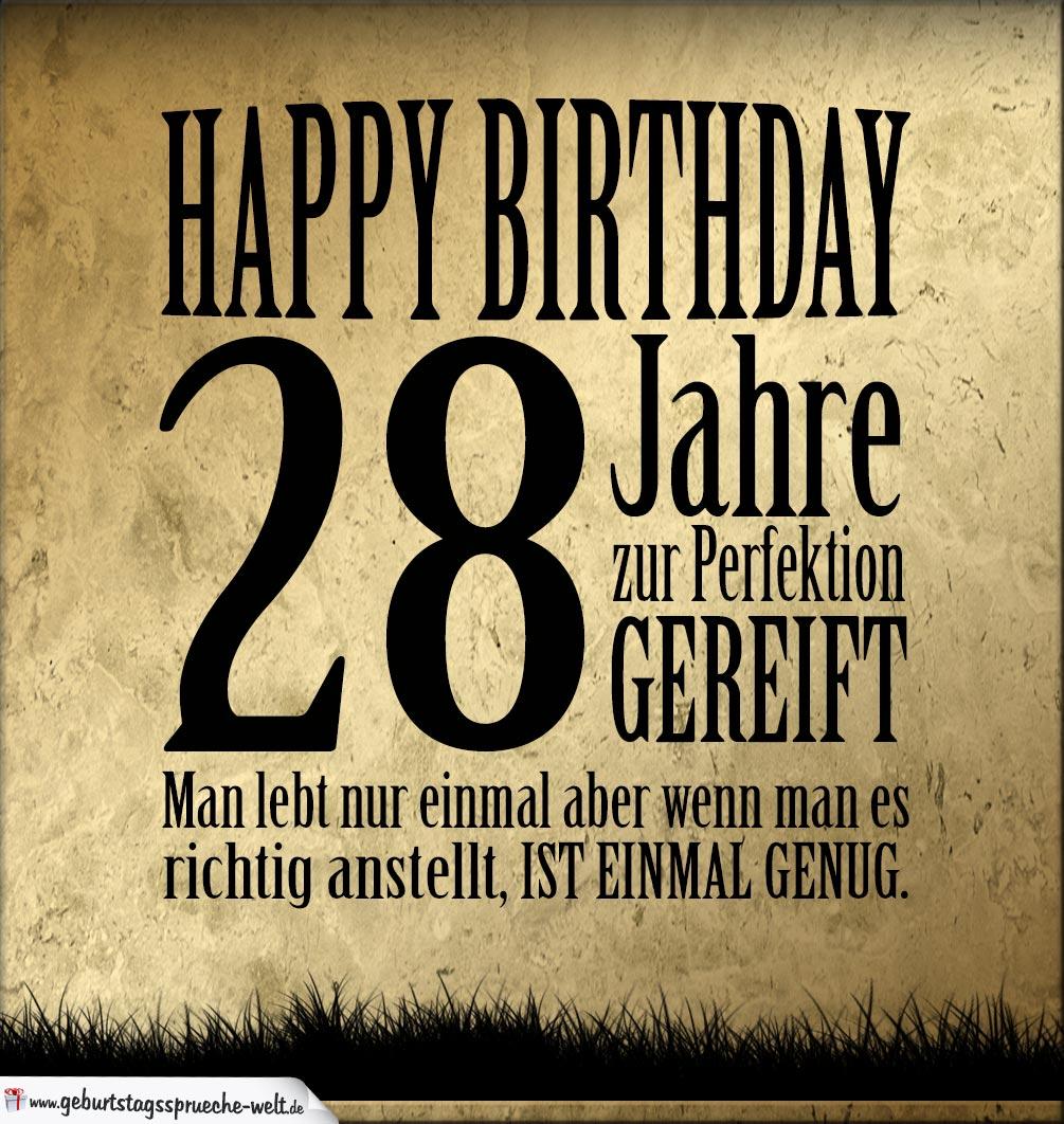 Gluckwunsche Geburtstagskarte 28 Geburtstag Mit Torte