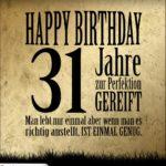 31. Geburtstag Retro Geburtstagskarte