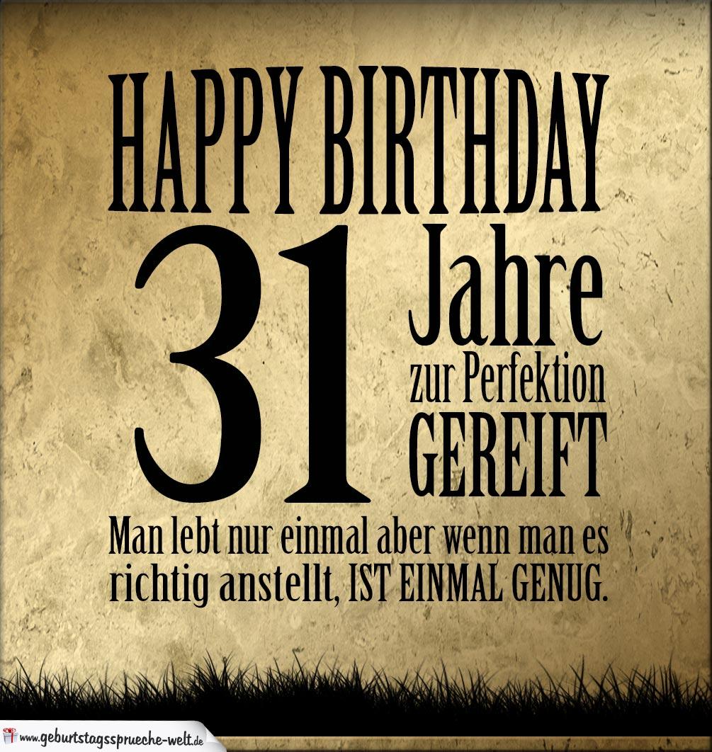 31. Geburtstag Retro Geburtstagskarte   Geburtstagssprüche Welt