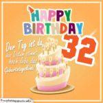 32. Geburtstag Geburtstagssprüche Happy Birthday Geburtstagskind