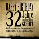 32. Geburtstag Retro Geburtstagskarte