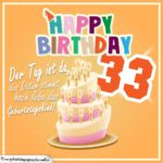33. Geburtstag Geburtstagssprüche Happy Birthday Geburtstagskind